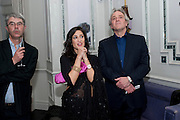DAN FRANKLIN; FATIMA BHUTTO; HENRY PORTER, Henry Porter hosts a launch for Songs of Blood and Sword by Fatima Bhutto. The Artesian at the Langham London. Portland Place. 15 April 2010.  *** Local Caption *** -DO NOT ARCHIVE-© Copyright Photograph by Dafydd Jones. 248 Clapham Rd. London SW9 0PZ. Tel 0207 820 0771. www.dafjones.com.<br /> DAN FRANKLIN; FATIMA BHUTTO; HENRY PORTER, Henry Porter hosts a launch for Songs of Blood and Sword by Fatima Bhutto. The Artesian at the Langham London. Portland Place. 15 April 2010.