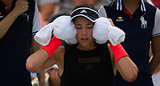Garbine Muguruza of Spain in action during the first round of the 2018 US Open Grand Slam tennis tournament, New York, USA, August 27th 2018, Photo Rob Prange / SpainProSportsImages / DPPI / ProSportsImages / DPPI