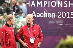 Rath, Matthias Alexander (GER); R&ouml;ser, Klaus (GER)<br /> European Championship Aachen 2015 - Dressage<br /> &copy; Hippo Foto - Stefan Lafrentz