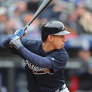 NEW YORK, NEW YORK - MAY 04:  Daniel Castro #14 of the Atlanta Braves batting during the Atlanta Braves Vs New York Mets MLB regular season game at Citi Field on May 04, 2016 in New York City. (Photo by Tim Clayton/Corbis via Getty Images)