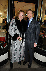 VISCOUNTESS GORMANSTON and her father EDWARD FOX at the opening of Jack O'Shea's butcher, Montpelier Street, London on 9th November 2006.  <br /><br /><br />NON EXCLUSIVE - WORLD RIGHTS