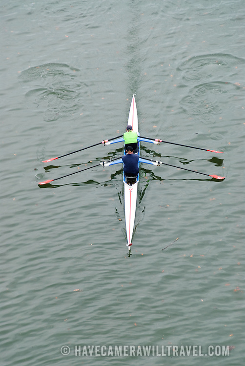 Rowers on the Potomac River in Washington DC