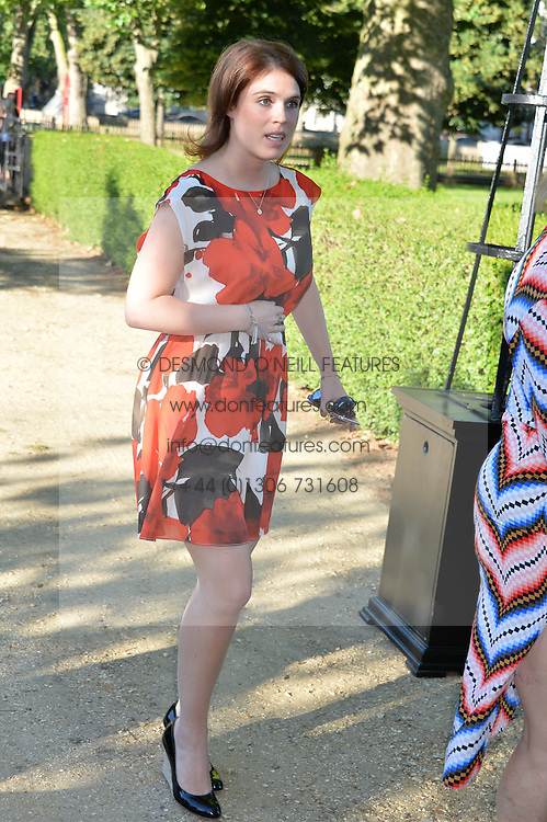 PRINCESS EUGENIE OF YORK at the Frost Family Summer party in support of the British Heart Foundation and the Mile Frost Fund held at Burton Court, Chelsea, London  on 18th July 2016.