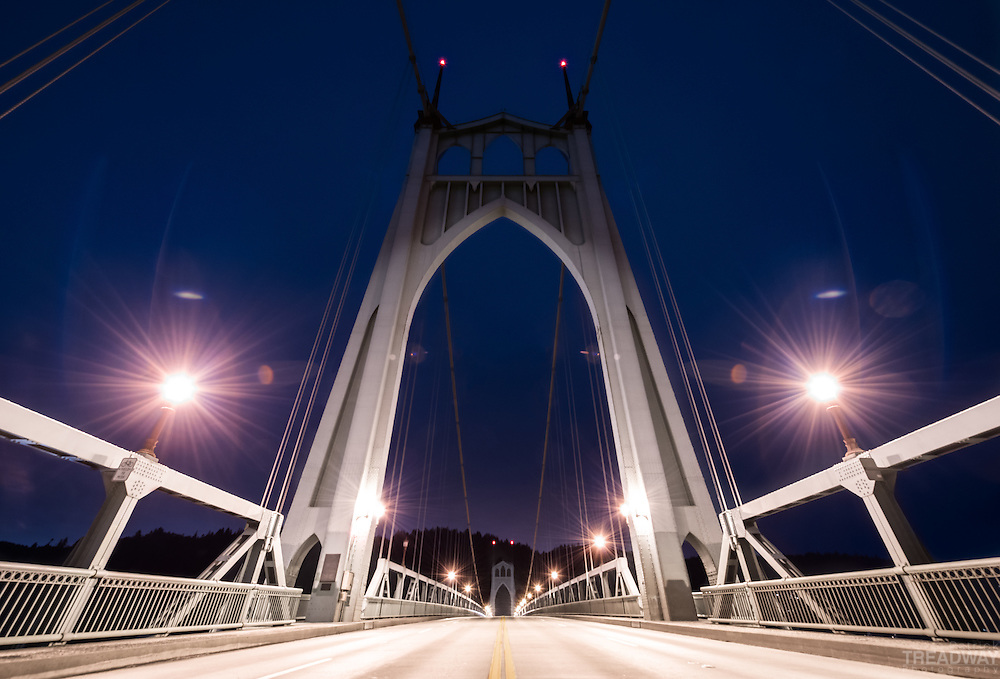 The St. John's Bridge in Portland, Oregon.