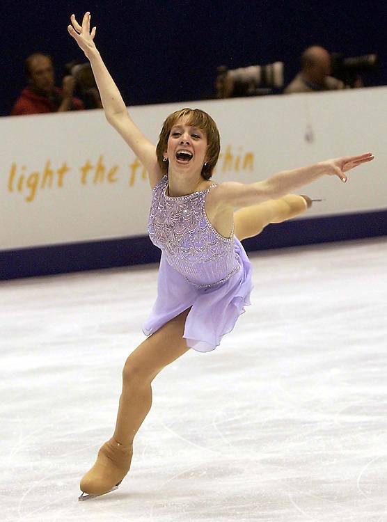 Sarah Hughes performs her near perfect long program which vaulted her into a gold medal at the 2002 Winter Olympic Games in Salt Lake City. Photo by August Miller