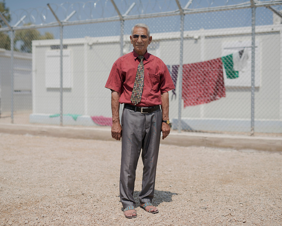 Abdulbaki Yunis, a Syrian Kurd refugee from Damascus in the First Reception Centre (Hot-Spot) of Leros, Greece. <br />