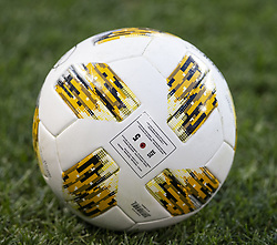 September 22, 2018 - Harrison, New Jersey, United States - Special football by Adidas to commemorate Tackle Kids Cancer for regular MLS game between New York Red Bulls & Toronto FC at Red Bull Arena Red Bulls won 2 - 0 (Credit Image: © Lev Radin/Pacific Press via ZUMA Wire)