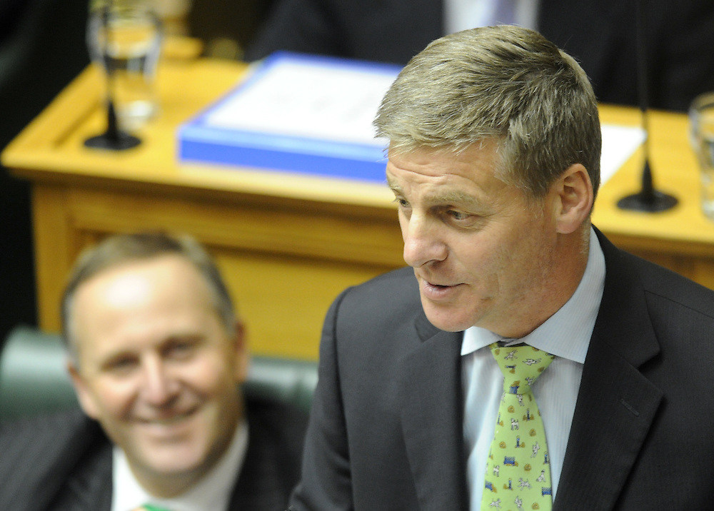 Finance Minister Bill English during question time in the debating chamber, Parliament, Wellington, New Zealand, Tuesday, May 01, 2012. Credit:SNPA / Ross Setford