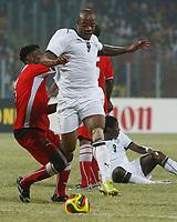Photo: Steve Bond/Richard Lane Photography.<br />Ghana v Namibia. Africa Cup of Nations. 24/01/2008. Junior Agogo (C) bursts through