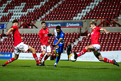 Zain Walker of Bristol Rovers shoots at goal - Mandatory by-line: Robbie Stephenson/JMP - 29/10/2019 - FOOTBALL - County Ground - Swindon, England - Swindon Town v Bristol Rovers - FA Youth Cup Round One