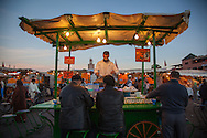 Food stall in Djemaa El Fna Square, in the medina, Marrakesh, Morroco, at dusk. http://www.gettyimages.com/detail/news-photo/food-stall-in-djemaa-el-fna-square-in-the-medina-marrakesh-news-photo/481205685