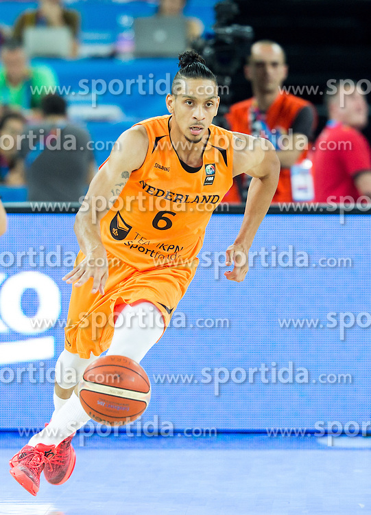 Worthy de Jong of Netherlands during basketball match between Georgia and Netherlands at Day 1 in Group C of FIBA Europe Eurobasket 2015, on September 5, 2015, in Arena Zagreb, Croatia. Photo by Vid Ponikvar / Sportida