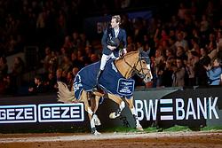 DEVOS Peter (BEL), Apart<br /> Stuttgart - German Masters 2018<br /> Siegerehrung<br /> Grosser Preis von Stuttgart<br /> Longines FEI Jumping World Cup 2018/2019<br /> 17. November 2018<br /> © www.sportfotos-lafrentz.de/Stefan Lafrentz