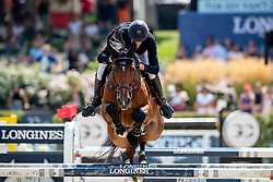 STAUT Kevin (FRA), For Joy van't Zorgvliet HDC  <br /> Berlin - Global Jumping Berlin 2018<br /> 2. Wertung für Global Champions League<br /> 28. Juli 2018<br /> © www.sportfotos-lafrentz.de/Stefan Lafrentz