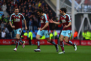 Joey Barton celebrates making it 1-0 Burnley during the Sky Bet Championship match between Preston North End and Burnley at Deepdale, Preston, England on 22 April 2016. Photo by Pete Burns.