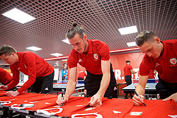 CARDIFF, WALES - Tuesday, September 4, 2018: Wales' Gareth Bale during a signing session at the Vale Resort ahead of the UEFA Nations League Group Stage League B Group 4 match between Wales and Republic of Ireland. (Pic by David Rawcliffe/Propaganda)