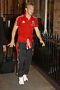 30.SEPTEMBER.2011. LIVERPOOL<br /> <br /> LIVERPOOL FC PLAYER, DIRK KUYT, ARRIVES AT THE HOPE STREET HOTEL IN LIVERPOOL, BEFORE THEIR DERBY MATCH AGAINST EVERTON AT GOODISON PARK ON 1ST OCTOBER<br /> <br /> BYLINE: EDBIMAGEARCHIVE.COM<br /> <br /> *THIS IMAGE IS STRICTLY FOR UK NEWSPAPERS AND MAGAZINES ONLY*<br /> *FOR WORLD WIDE SALES AND WEB USE PLEASE CONTACT EDBIMAGEARCHIVE - 0208 954 5968*