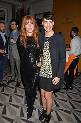 Left to right, CHARLOTTE TILBURY and SARAH WOOD winner of the 2016 Veuve Clicquot Business Women Award at the Veuve Clicquot Business Woman Award 2016 held at Claridge's Hotel, Brook Street, London on 9th May 2016.