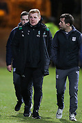 Hibernian manager Neil Lennon during the Ladbrokes Scottish Premiership match between Dundee and Hibernian at Dens Park, Dundee, Scotland on 24 January 2018. Photo by Craig Doyle.