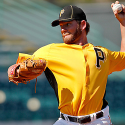 February 25, 2011; Bradenton, FL, USA; Pittsburgh Pirates pitcher Rudy Owens (73) during a spring training exhibition game against the State College of Florida Manatees at McKechnie Field. The Pirates defeated the Manatees 21-1. Mandatory Credit: Derick E. Hingle-US PRESSWIRE