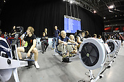 Birmingham, Great Britain,  Men 90+ , 99 year old John HODGSON completing his 2000 meter race on the ergo, in a time of 12min.21sec. dead at  the British Indoor Rowing Championships, National Indoor Arena, NIA, Sun, 22.11.2009  [Mandatory Credit. Peter Spurrier/Intersport Images]