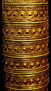 Ceremonial gold hat. Part of a ruler or Priesterornats, the ornaments are to be interpreted as a calendar. Gold, Around 1000 BC. Origin unknown, probably southern Germany