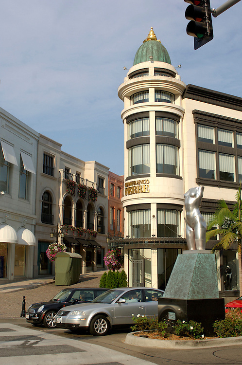 Sculpture, Rodeo Drive, Beverly Hills, Los Angeles, California, United States of America