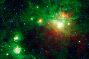 This image from NASA's WISE highlights several star-forming regions. Gum 22, Gum 23, IRAS 09002-4732, Bran 226, and finally Gum 25.