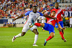 September 1, 2017 - Harrison, NJ, USA - Harrison, N.J. - Friday September 01, 2017:   Jozy Altidore, Johnny Acosta during a 2017 FIFA World Cup Qualifying (WCQ) round match between the men's national teams of the United States (USA) and Costa Rica (CRC) at Red Bull Arena. (Credit Image: © Howard Smith/ISIPhotos via ZUMA Wire)