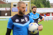 AFC Wimbledon defender George Francomb (7) back in training prior the Pre-Season Friendly match between Dagenham and Redbridge and AFC Wimbledon at the London Borough of Barking and Dagenham Stadium, London, England on 30 July 2016. Photo by Stuart Butcher.