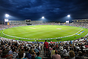 The Ageas Bowl under the floodlights during the Royal London ODI match between England and Pakistan at the Ageas Bowl, Southampton, United Kingdom on 24 August 2016. Photo by Graham Hunt.