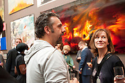 KEITH TYSON; FIONA RAE, Royal Academy of Arts Summer Exhibition Preview Party 2011. Royal Academy. Piccadilly. London. 2 June <br /> <br />  , -DO NOT ARCHIVE-© Copyright Photograph by Dafydd Jones. 248 Clapham Rd. London SW9 0PZ. Tel 0207 820 0771. www.dafjones.com.