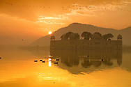 Sunrise at Jal Mahal in Jaipur of Rajasthan, India