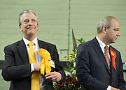 © Licensed to London News Pictures. 01/03/2013. Eastleigh, UK Liberal Democrat Candidate Mike Thornton hears that he has won the Eastleigh By-Election and is now an elected Member of Parliament. Campaigning in the weeks ahead of The Liberal Democrats winning the Eastleigh by-election, with the UK Independence Party pushing the Conservatives into third place.. Photo credit : Stephen Simpson/LNP