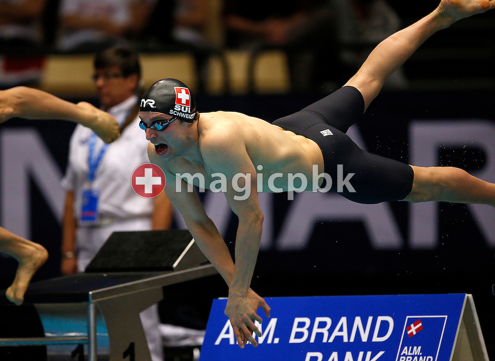 Martin SCHWEIZER of Switzerland competes in the men's 50m Breaststroke Heats during the 17th European Short Course Swimming Championships held at the Jyske Bank BOXEN in Herning, Denmark, Saturday, Dec. 14, 2013. (Photo by Patrick B. Kraemer / MAGICPBK)