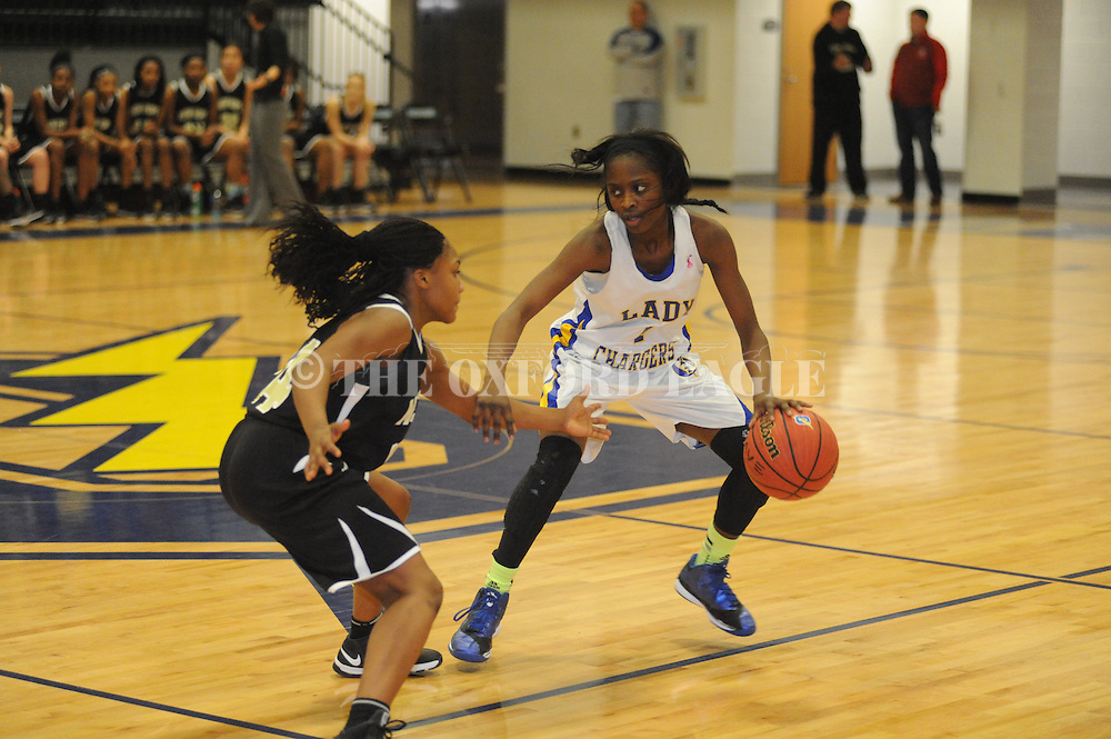 Oxford High's Tiara King (1) vs. New Hope in girls high school basketball in Oxford, Miss. on Friday, February 6, 2015. Oxford won.