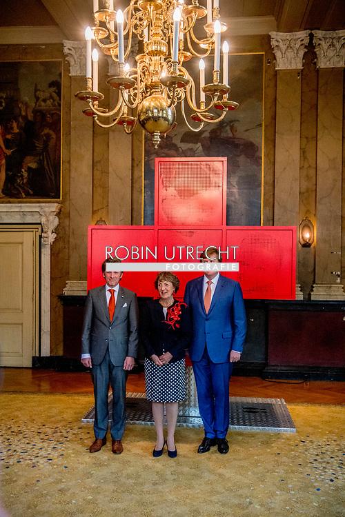 8-5-2017 DEN HAAG  - de Koning Willem-Alexander en Hoogheid Prinses Margriet der Nederlanden zijn maandagmiddag 8 mei in de Ridderzaal in Den Haag aanwezig bij de viering van 150 jaar Nederlandse Rode Kruis. Prinses Margriet is aanwezig in haar hoedanigheid van erevoorzitter van het Rode Kruis.COPYRIGHT ROBIN UTRECHT<br /> 8-5-2017 THE HAGUE - King William Alexander and Highness Princess Margriet of the Netherlands will attend the celebration of 150 years of the Dutch Red Cross on Monday afternoon, May 8 in the Ridderzaal in The Hague. Princess Margriet is present in her capacity as rector of the Red Cross. COPYRIGHT ROBIN UTRECHT