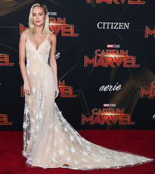 World Premiere Of Marvel Studios 'Captain Marvel' held at the El Capitan Theatre on March 4, 2019 in Hollywood, Los Angeles, California, United States. 04 Mar 2019 Pictured: Brie Larson. Photo credit: Xavier Collin/Image Press Agency / MEGA TheMegaAgency.com +1 888 505 6342
