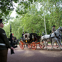 Armed forces participate in a full rehearsal of the royal wedding in the early morning hours two days before the scheduled wedding of Prince William and Kate Middleton on April 29, 2011.