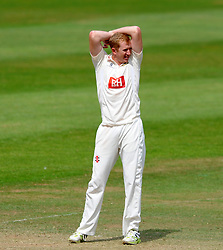 Dejection for Sussex's Luke Wells - Photo mandatory by-line: Harry Trump/JMP - Mobile: 07966 386802 - 08/07/15 - SPORT - CRICKET - LVCC - County Championship Division One - Somerset v Sussex- Day Four - The County Ground, Taunton, England.
