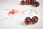 Smashed Cherries by Rodney Bedsole, a food photographer based in Nashville and New York City.