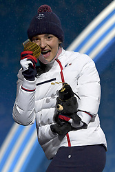 BOCHET_Marie, Para Alpine Skiing, ParaSkiAlpin, Podium at  the PyeongChang2018 Winter Paralympic Games, South Korea.
