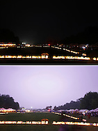 Pine Bush, New York - Lightning lights up the scene in the bottom photo, taken a few seconds after the top photo, during the Relay for Life on Saturday, June 12, 2010.