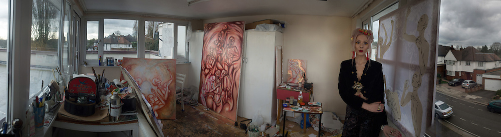 EWA  WILCZYNSKI in her studio. London. 2 February 2016