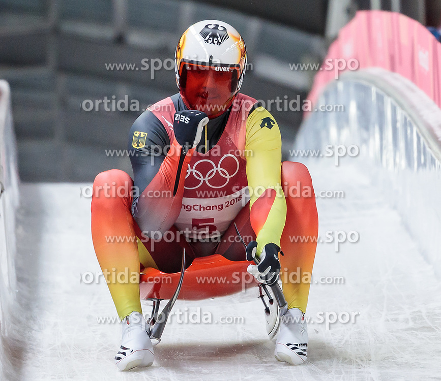 11.02.2018, Olympic Sliding Centre, Pyeongchang, KOR, PyeongChang 2018, Rodeln, Herren, 3. Lauf, im Bild Felix Loch (GER) // Felix Loch of Germany during the Men's Luge Singles Run 3 competition at the Olympic Sliding Centre in Pyeongchang, South Korea on 2018/02/11. EXPA Pictures © 2018, PhotoCredit: EXPA/ Johann Groder