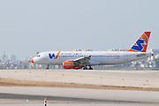 Israel, Ben-Gurion international Airport Wind Jet landing