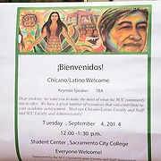 Chicano & Latino Student Welcome Event, Sacramento City College Fall 2014