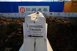 CHINA HONG KONG 24MAY10 - Wood chip composting at Hong Kong's Science and Technology University...jre/Photo by Jiri Rezac..© Jiri Rezac 2010