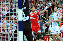 Ivan Cupic (27) of Croatia during 21st Men's World Handball Championship 2009 Main round Group I match between National teams of Croatia and Hungary, on January 24, 2009, in Arena Zagreb, Zagreb, Croatia.  (Photo by Vid Ponikvar / Sportida)