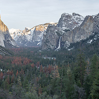 Late afternoon sun on Yosemite Valley, Tunnel View, Yosemite National Park, CA